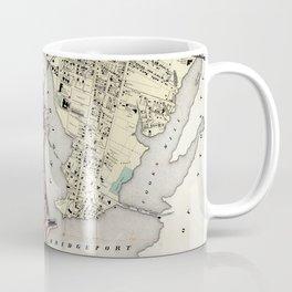 Vintage Map of Bridgeport CT (1867) Coffee Mug