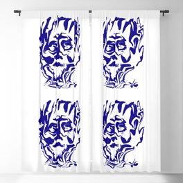 face5 blue Blackout Curtain