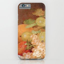 Still Life With Apricots & Berries iPhone Case