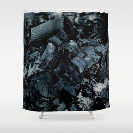 Black Coal Shower Curtain
