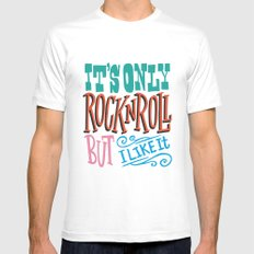 It's Only Rock White MEDIUM Mens Fitted Tee