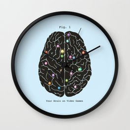 Your Brain On Video Games Wall Clock