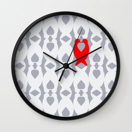 Love Birds Pattern Wall Clock