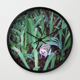 Juni Hedgehog Adventure in Plants Wall Clock