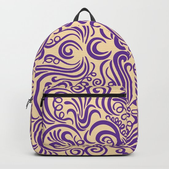 Vintage Ornaments Violet Backpack