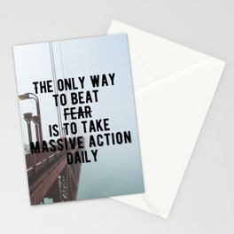 Motivational - Take Massive Action Daily Quote Stationery Cards