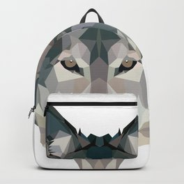 wolf geometric Backpack