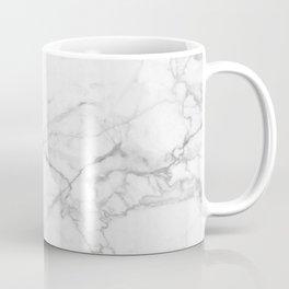 White & Gray Marble Texture Print Coffee Mug