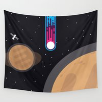 playstation Wall Tapestries featuring Meteor by eARTh