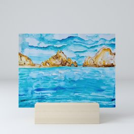 The Arch Cabo San Lucas Mexico Watercolor #2 Mini Art Print