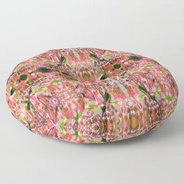 Pink Floral Pattern Floor Pillow