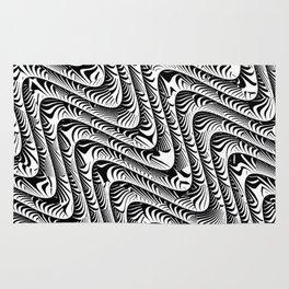 Black and White Serpentine Pattern Rug