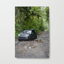 Offroading in the Costar Rican Jungle Metal Print