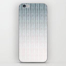 Gray-blue vertical stripes . iPhone Skin