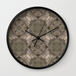 Vintage Silver Tiled Patten Mosaic Wall Clock