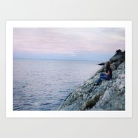 The Edge of Thoughts. Art Print