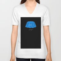 jellyfish V-neck T-shirts featuring Jellyfish by Abel Fdez