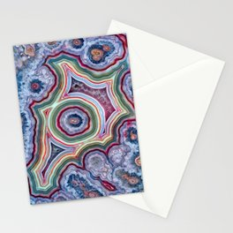 Colorful Agate Stationery Cards