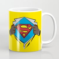 superman Mugs featuring Superman  by Wave Sports