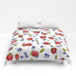 Strawberry, Blueberry, Mint Comforters