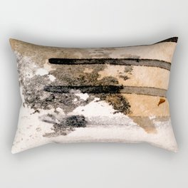Desert Musings - a watercolor and ink abstract in gray, brown, and black Rectangular Pillow