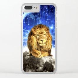 Grumpy Lion Clear iPhone Case