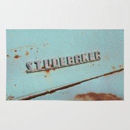 Blue Studebaker Rug