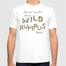 Let the wild rumpus start! MEDIUM White Mens Fitted Tee
