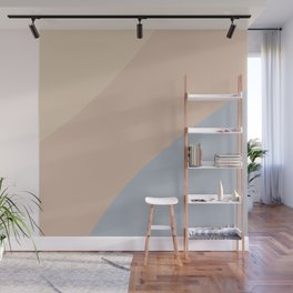Neutral Blue Color Block Wall Mural