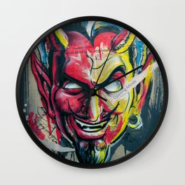 The Devil Made Me Do It Wall Clock