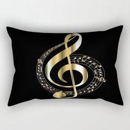 Golden G Cleff Rectangular Pillow