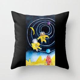 Spacewalk Cat Throw Pillow