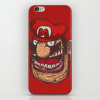 mario iPhone & iPod Skins featuring Mario by Lime