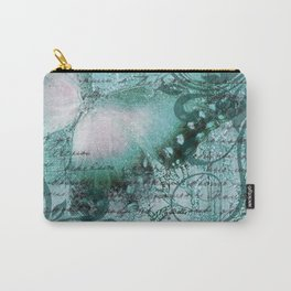 LE PAPILLON | teal Carry-All Pouch