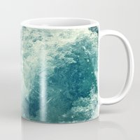 photograph Mugs featuring Water I by Dr. Lukas Brezak