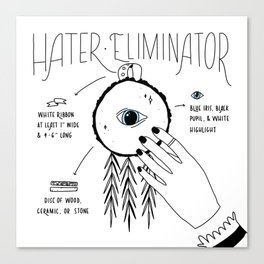 Hater Eliminator - How To Canvas Print