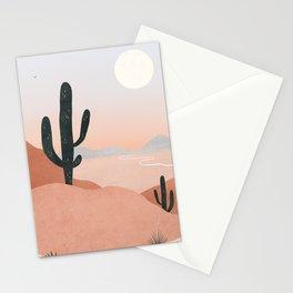 saguaro sunset Stationery Cards