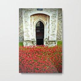 Tower of London Poppy Metal Print