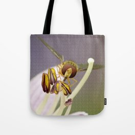 Hover on a Flower Tote Bag