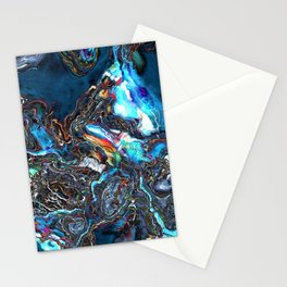 Abstract Waves of Color Stationery Cards