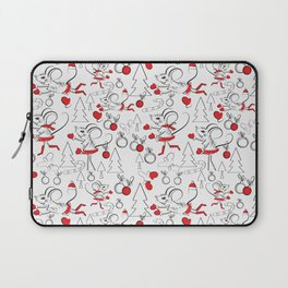 Christmas Pattern with Mouse Laptop Sleeve