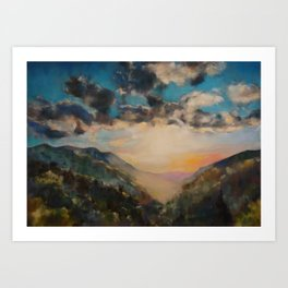 Sunlit Valley Art Print