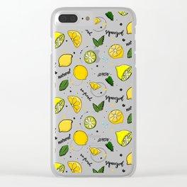 Lemon mix Clear iPhone Case