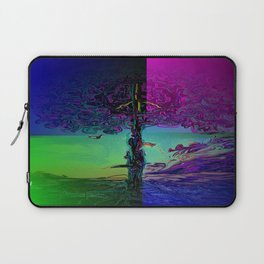 peace tree colours Laptop Sleeve