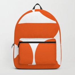 Mid Century Modern Orange Square Backpack