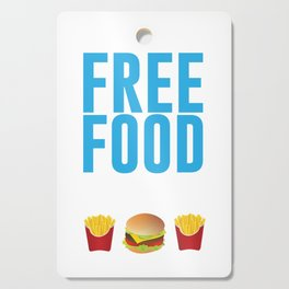 Run Like There's Free Food Snacks At The Finish Line T Shirt Cutting Board