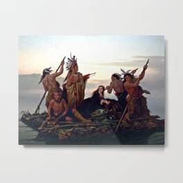 The Abduction of Boone's Daughter by the Indians Metal Print