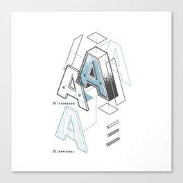 The Exploded Alphabet / A Canvas Print