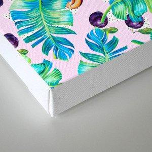 Pattern Plum & leaf Canvas Print
