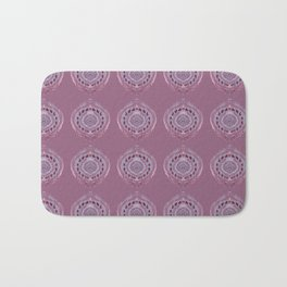 Painted Circle in Violet Bath Mat